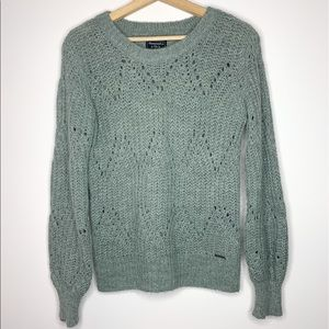 Holister Alpaca and Wool Grey puff Sleeved sweater